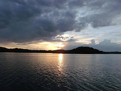 Landscape Lake At Sunset Original