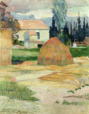 Landscape Near Arles Art Print by Paul Gauguin