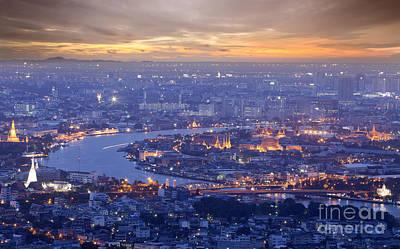 Landscape Of Bangkok And The River Original by Anek Suwannaphoom