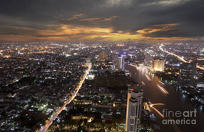 Landscape Of Bangkok Art Print by Anek Suwannaphoom