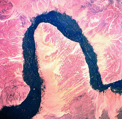 Landscape Of Earth Viewed From Space Art Print by Stockbyte