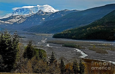Photograph - Landscape Of Mount St. Helens Volcano Washington State Art Prints by Valerie Garner