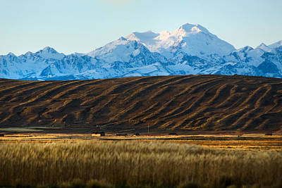 Landscape Of The Highlands And The Cordillera Real. Republic Of Bolivia. Print by Eric Bauer