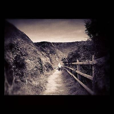Pathway Photograph - #landscape #pathway #blackandwhite by Rachel Purchase