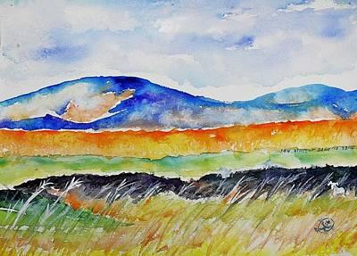 Autumn Landscape Drawing - Landscape Study by Ion vincent DAnu