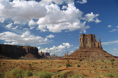 Photograph - Landscape View Monument Valley Navajo by Tim Fitzharris