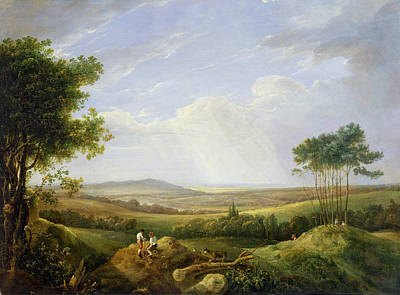 Landscape With Figures  Art Print by Captain Thomas Hastings