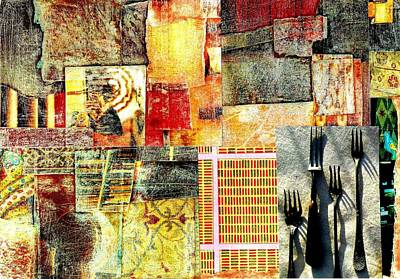 Digital Art - Landscape With Forks by Jann Sage