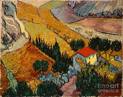 Landscape With House And Ploughman Art Print by Gogh Vincent van