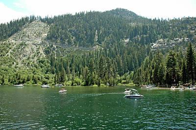 Striking Photograph - Landslide Emerald Bay Lake Tahoe by LeeAnn McLaneGoetz McLaneGoetzStudioLLCcom