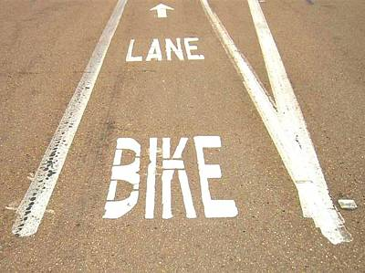 Photograph - Lane Bike by Jenny Senra Pampin