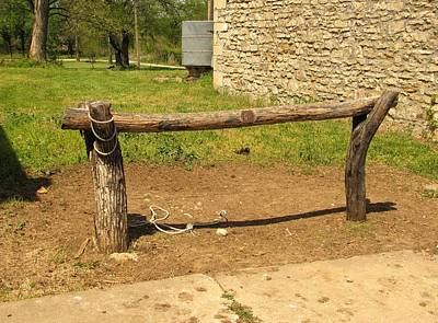 Photograph - Lane Hitching Post by Keith Stokes