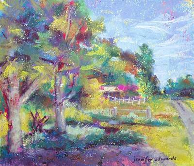 Jennifer Edwards Pastel - Lane Of Dreams by Jennifer Edwards