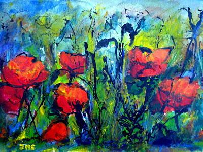 Languedoc Poppies Art Print by Jackie Sherwood
