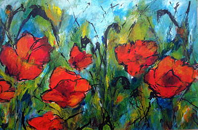 Languedoc Poppies No 2 Art Print by Jackie Sherwood