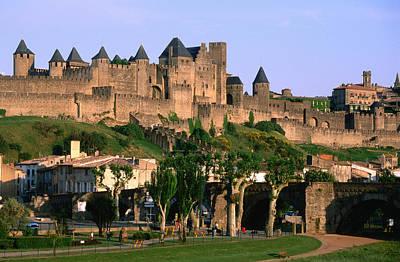 Languedoc Roussillon Carcassonne La Cite, 12th Century Castle, Carcassonne, Languedoc-roussillon, France, Europe Art Print by John Elk III