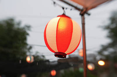 Lantern At Ginza Festival Art Print by Seeing Is Believing.