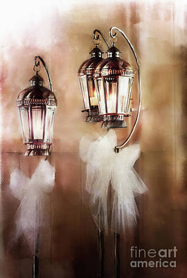 Candle Stand Photograph - Lanterns by Stephanie Frey