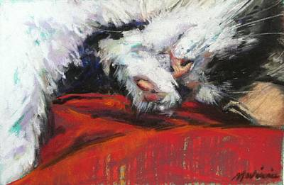 Painting - Lap Cat by Michelle Winnie