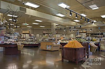 Large And Modern Grocery Store Art Print