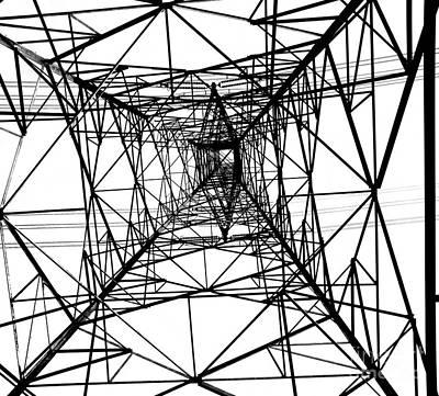 Large Electricity Powermast Art Print by Yali Shi