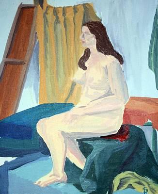 Dominant Women Painting - Large Female Nude by Sheri Buchheit
