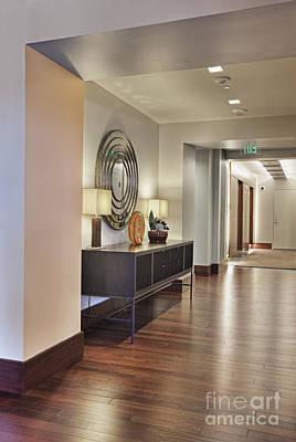 Large Hallway In Building Art Print