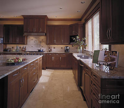 Large Sinks Photograph - Large Kitchen by Robert Pisano
