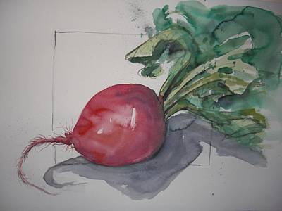 Large Radish Art Print by Barbara Spies