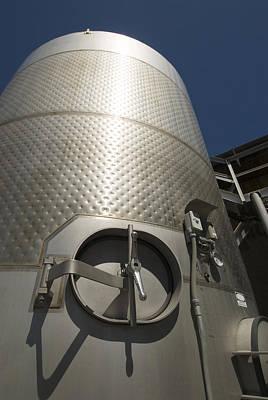 Large Steel Vat For Wine Making Art Print by James Forte