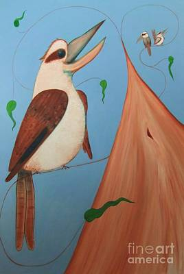 Painting - Larrikins And Masked Bandits by Leonie Higgins Noone