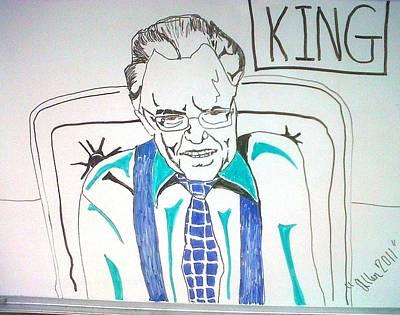 Larry King Art Print by Allen Walters