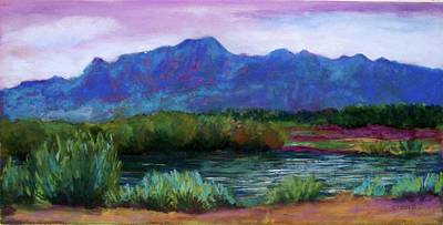 Las Cruces Painting - Las Cruces Bosque by Melinda Etzold