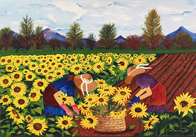Girasole Painting - Las Mimosas by Damaris Munoz Arias