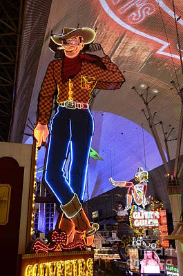 Freemont Street Photograph - Las Vegas Neon by Bob Christopher