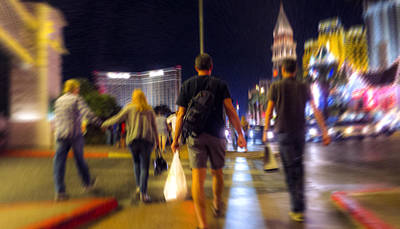 Photograph - Las Vegas Night Walkers by Susan Stone