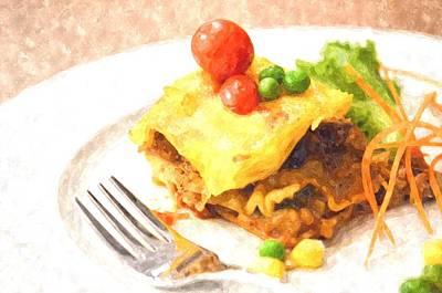 Grate Painting - Lasagna by Rakratchada Torsap