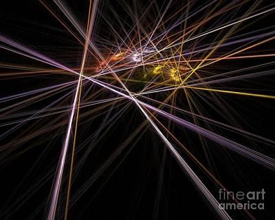 Digital Art - Laser Battle by Yali Shi