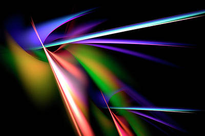 Digital Art - Laser Light Show by Carolyn Marshall