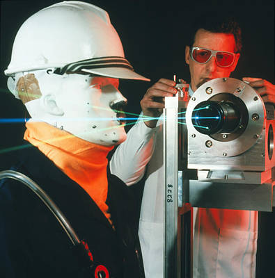 Anemometer Photograph - Laser Measurement Of The Velocity Of A Gas Stream by Crown Copyrighthealth & Safety Laboratory