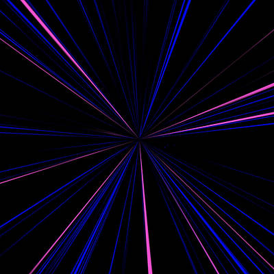 Blue Photograph - Lasers by Aimee L Maher Photography and Art Visit ALMGallerydotcom