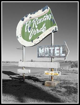 Selective Color Photograph - Last Chance Motel by Glenn McCarthy Art and Photography