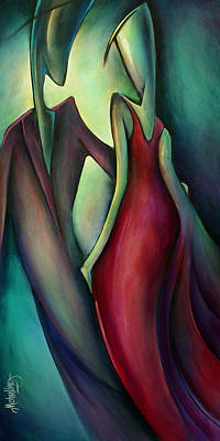 Moody Painting - Last Dance by Michael Lang