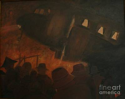 Dc-3 Painting - Last Flight Out by William Bezik