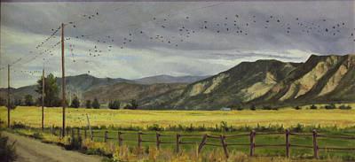 Painting - Last Harvest by Victoria  Broyles