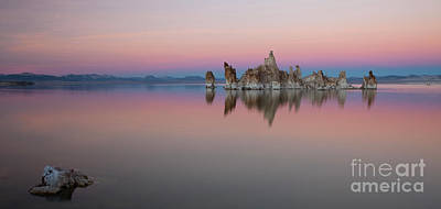 Brilliant Color Photograph - Last Light At Mono Lake by Keith Kapple