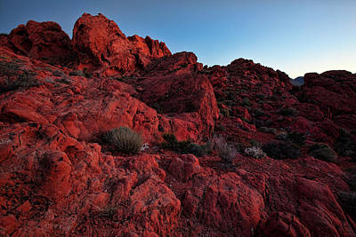 Valley Of Fire Wall Art - Photograph - Last Light In Valley Of Fire by Rick Berk