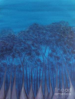 Painting - Last Light Karri by Leonie Higgins Noone