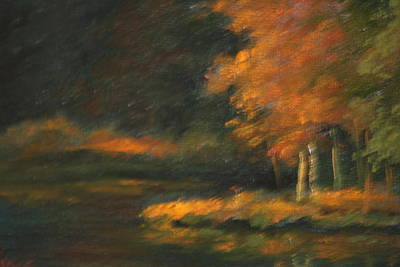 Painting - Last Light by Linda Eades Blackburn