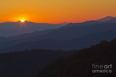 Photograph - Last Light Over The Smokies by Dennis Hedberg